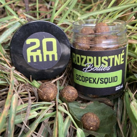 Rozpusté boilies Scopex/Squid 20 mm, 250 ml