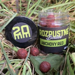 Rozpustné boilies Anchovy Red 20 mm, 250 ml